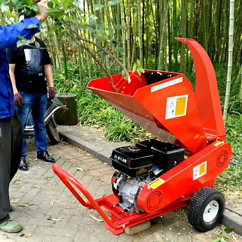 188汽油柴油绿化树枝粉碎机 园林枝条粉碎机 园林葡萄果树枝