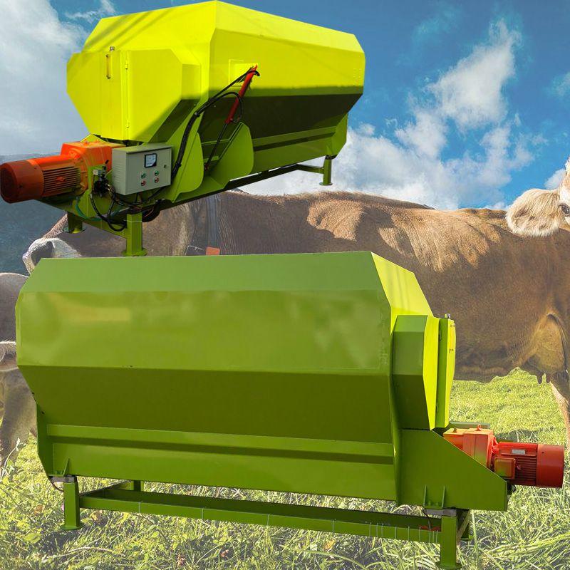 牵引式饲料粉碎搅拌机 TMR卧式草料拌料机 牛羊拌草机