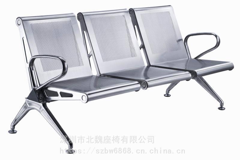 加厚不銹鋼4人椅子-候診椅連排椅-排椅座可以加中間扶手