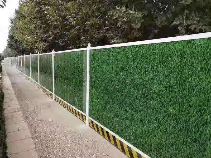 武汉军运会绿草皮围挡货源充足 武汉PVC围挡厂家直销