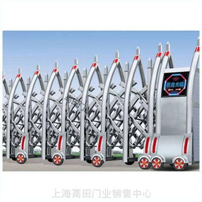 供应上海高档电动伸缩门/上海不锈钢伸缩门/上海电动门安装维修