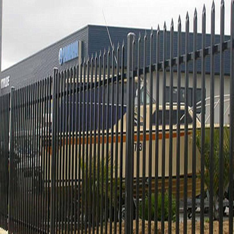 工厂锌钢围栏厂家 久卓批发围墙铁栅栏 厂区围墙栅栏价格查询