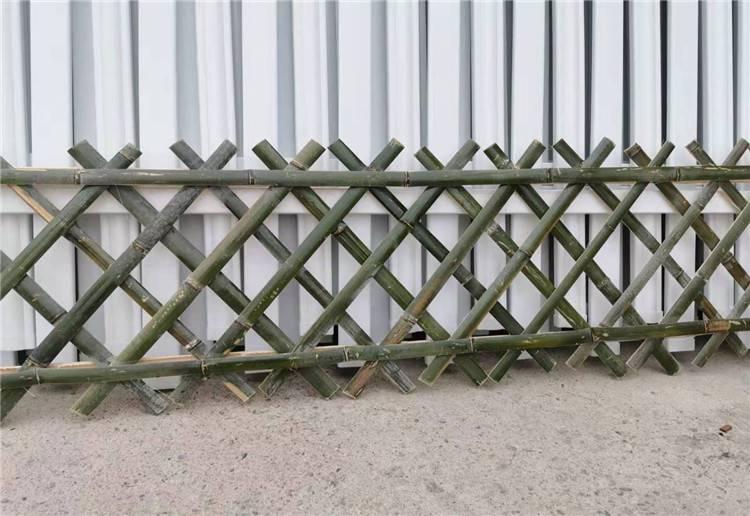 广德县pvc隔离栏杆竹护栏清新县竹篱笆欢迎来电咨询