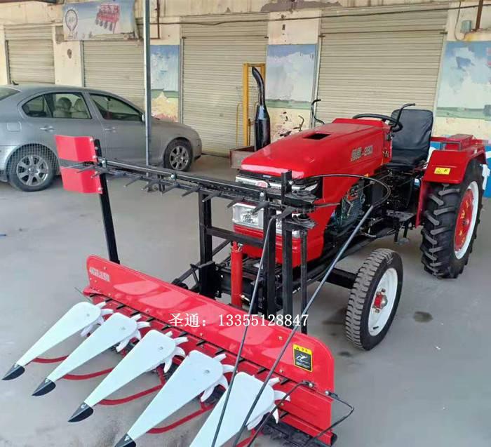 四輪帶高低桿收割機 玉米蘆葦柳條牧草收割機 割曬機