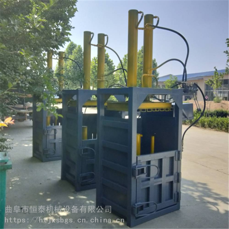 江西廢料礦泉水瓶半自動壓縮機 7.5kw電機 恒泰口罩熱熔布
