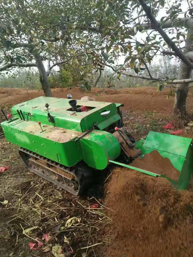 慧牛履带式开沟施肥回填旋耕锄草一体机