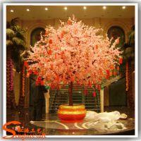 室外装饰仿真桃花树 厂家生产人造桃花枝 美观耐用仿真大桃花树