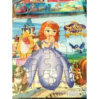 厂家直销 卡通拼图 带框纸质拼图拼板 动漫智力拼图玩具 儿童