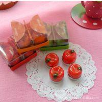 水果/苹果/草莓/橘子蜡烛批发(4个一套)礼品 生日礼物 精装
