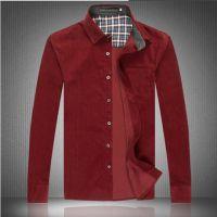 2014秋冬新款男士长袖衬衣 男式商务保暖衬衫加绒纯色衬衣批发