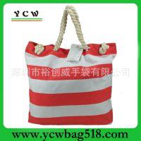 深圳市龙岗手袋厂 生产订做 帆布袋 欧美 沙滩袋 多功能 帆布包