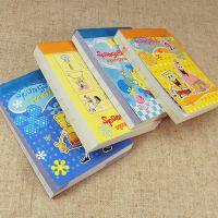 卡通海绵宝宝小本子 可爱彩页记事本便签本 幼儿园小学生礼品文具
