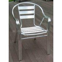 供应铝椅双管铝椅展会椅休闲LOGO椅广告户外椅堆叠大排挡餐厅酒店椅子