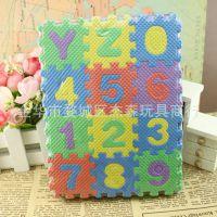 批发三层地垫儿童字母数字游戏拼图益智玩具 泡沫地垫36片每包