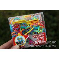 韩国创意礼品 1000DIY彩色工艺橡皮筋 创意手环 可爱服装配饰