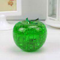 3D立体水晶苹果拼图 儿童益智力玩具特价