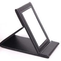 供应 定制PU镜子 PU折叠镜子 珠宝折叠镜子 台式便携折叠镜子 定做 生产厂家