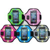热卖LED iphone5/5S 运动手臂带 手机保护套臂带 苹果手臂带