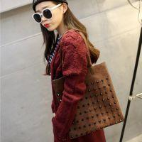 冬季新款时尚复古柳钉钉子包单肩包 潮包 购物袋休闲女包