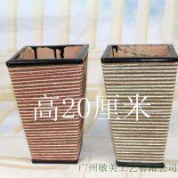 广州敏美工艺厂家直销落地花瓶高花盆创意欧式木制摆设客厅花器