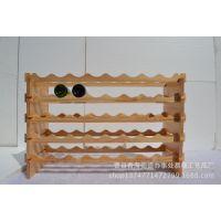 厂家直销~【木制酒架】创意木制红酒架 实木酒架 木制小酒架订做