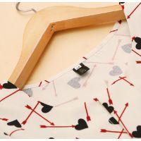 韩版2014新款秋装女装圆领垫肩印花长袖百搭衬衫