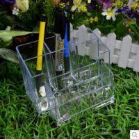 富强FQ568组合型笔筒 多功能办公笔座 笔筒 笔盒架 透明塑料笔槽