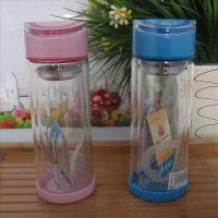 蝴蝶盖双层玻璃杯 情侣水晶杯  创意礼品杯  厂家促销