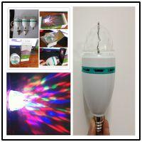LED声控球泡灯E27七彩旋转灯泡酒吧KTV专用闪光灯射灯 艾威瑞直销