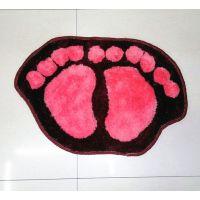 厂家直销 浴室厨房防滑地垫 可爱双脚丫门口垫脚垫鞋地毯垫