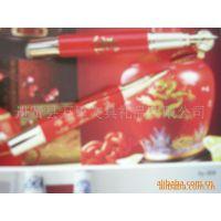 万里文具专利红瓷水性宝珠笔,中国红笔,金属宝珠笔,***宝珠笔