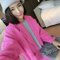 定制 韩国 甜美可爱 超减龄 粉色羊毛毛衣外套