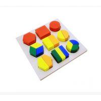 ***蒙氏 蒙特梭利 幼儿园儿童早教玩具 分解几何盘 分解几何体盘