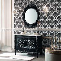 供应欧式浴室柜,实木浴室柜,橡木浴室柜-欧凯莎卫浴型号6910,99cm长