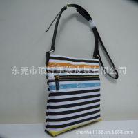 厂家批发条纹包包 印花帆布包 韩版单肩包 女式手提包