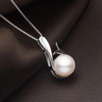 诸暨珍珠 珍珠首饰银饰品批发925银镶天然淡水珍珠吊坠