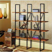创意铁艺隔板架 置物架 铁木家具书架 多功能书架 实木收纳架