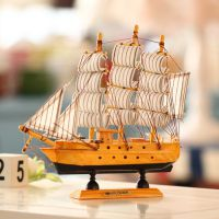 批发木质工艺品 地中海帆船模型手工工艺品礼品进口家居一件代发