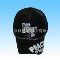 青岛帽子厂家new york同款立体刺绣NY棒球帽 镶钻NY时尚帽 鸭舌帽