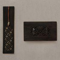 菱格书签名片夹黑檀红木套装中国内古典窗格元素礼品中国特色礼品