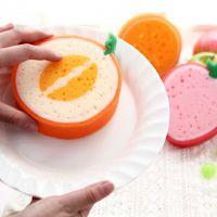 可爱水果强力去污海绵擦 水果海绵擦 百洁布 洗碗棉