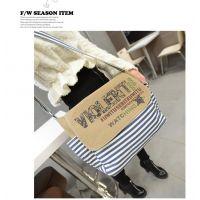 供应2014年新款韩版条纹包包 时尚单肩包 甜美淑女包批发