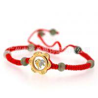 厂家供应时尚红绳编织手环 手链 手镯