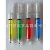 【厂家直销】铅笔针筒外形笔 中性笔 广告logo促销笔批发