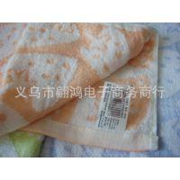批发25*50提花可爱韩式草莓100%无捻纯棉童巾