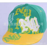 2015春季青岛恒益得生产定做厂家直销 长期供应六片绣花满尺寸帽
