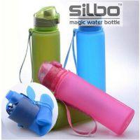 供应德国silbo魔法杯随手杯硅胶折叠杯便携水壶my bottle随行杯水杯子