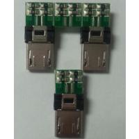 供应MICRO USB5PI夹板式公座带PCB板(电阻)(V8手机连接器夹板式)