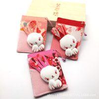 0925-036和风兔子公交卡套 笑梦琉和风布艺招财猫卡包卡套