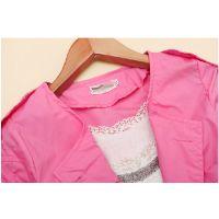 韩版2014新款秋装女装圆领双排扣中长款风衣外套